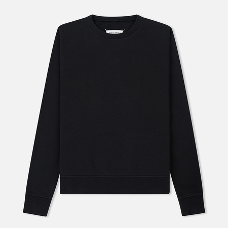 Мужская толстовка Maison Margiela Elbow Patches Calfskin Leather Black