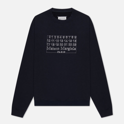 Мужская толстовка Maison Margiela Embroidered Numeric Logo Crew Neck Dark Blue