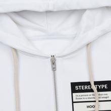 Мужская толстовка Maison Margiela Stereotype Felpa Con Zip Off White фото- 1