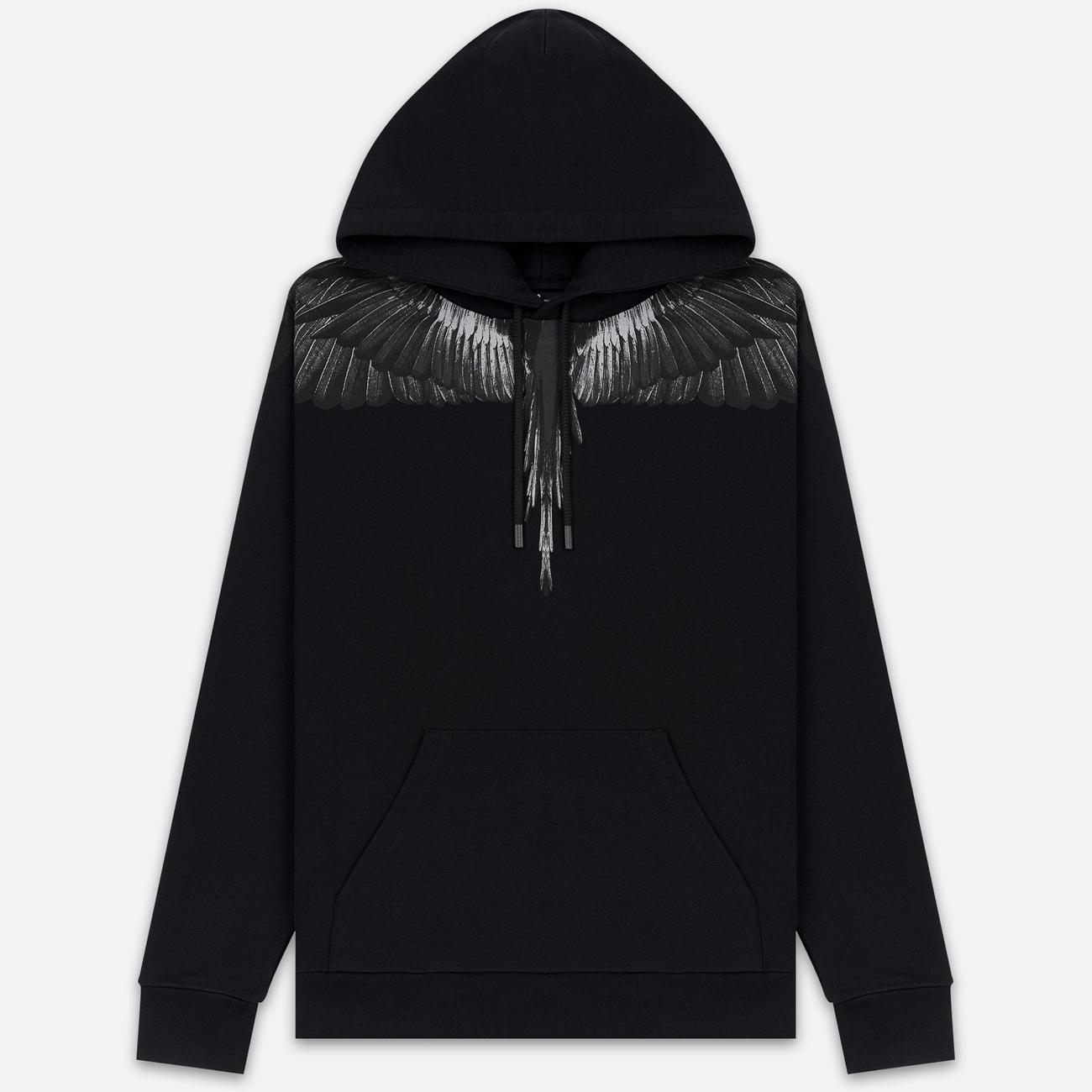 Мужская толстовка Marcelo Burlon Black Wings Hoodie Black/Black