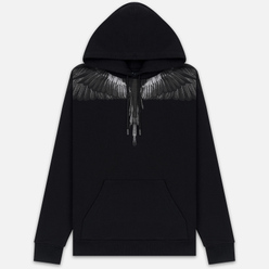 Мужская толстовка Marcelo Burlon Black Wings Hoodie Black/Black