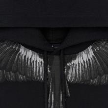 Мужская толстовка Marcelo Burlon Black Wings Hoodie Black/Black фото- 1