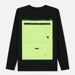 Мужская толстовка Marcelo Burlon Braille Tape Pocket Crewneck Black/Fluo Yellow фото- 1