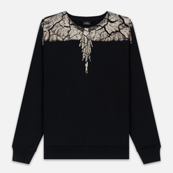 Мужская толстовка Marcelo Burlon Earth Wings Crewneck Black/Brown