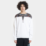 Мужская толстовка Marcelo Burlon Fluo Lights Wings Crewneck White/Multicolor фото- 2