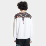 Мужская толстовка Marcelo Burlon Fluo Lights Wings Crewneck White/Multicolor фото- 4