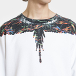 Мужская толстовка Marcelo Burlon Fluo Lights Wings Crewneck White/Multicolor фото- 3