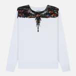 Мужская толстовка Marcelo Burlon Fluo Lights Wings Crewneck White/Multicolor фото- 0
