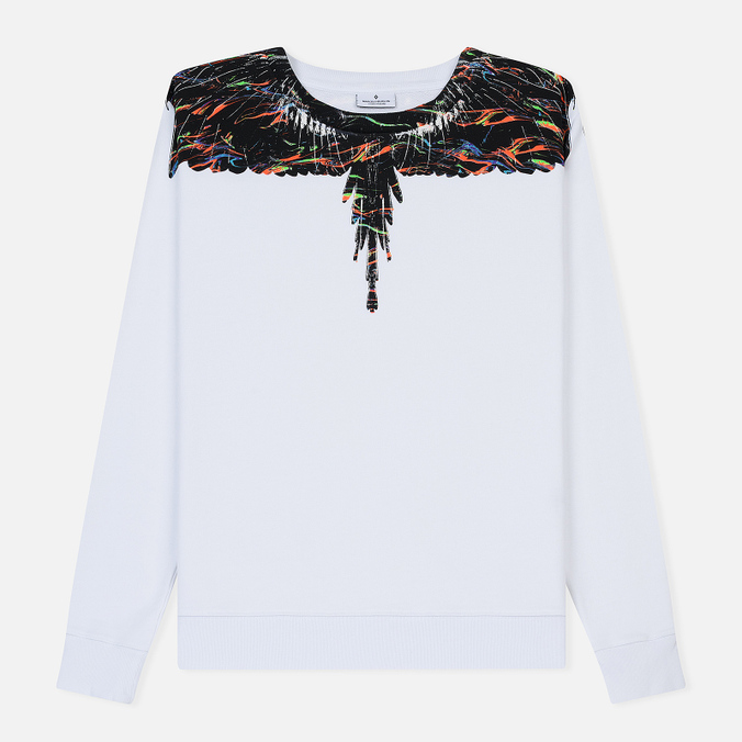 Мужская толстовка Marcelo Burlon Fluo Lights Wings Crewneck White/Multicolor