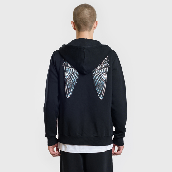 Мужская толстовка Marcelo Burlon Heart Wings Zipped Hoodie Black/White