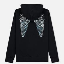 Мужская толстовка Marcelo Burlon Heart Wings Zipped Hoodie Black/White фото- 1