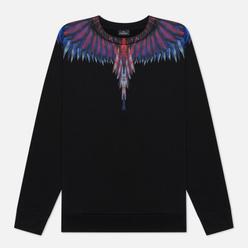 Мужская толстовка Marcelo Burlon Sharp Wings Regular Crewneck Black/Blue Fluo