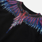Мужская толстовка Marcelo Burlon Sharp Wings Regular Crewneck Black/Blue Fluo фото - 1