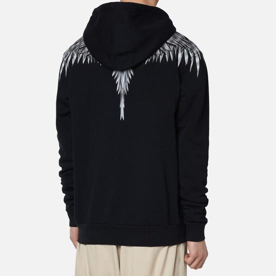 Мужская толстовка Marcelo Burlon Sharp Wings Regular Zip Hoodie Black/White