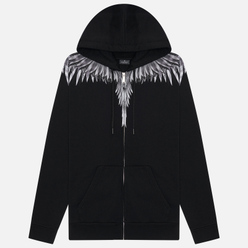 Мужская толстовка Marcelo Burlon Sharp Wings Regular Zip Hoodie Black/White