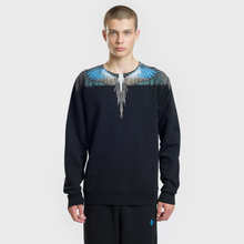 Мужская толстовка Marcelo Burlon Turquoise Wings Crewneck Black/Multicolor фото- 1