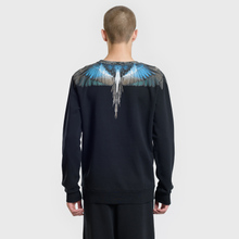 Мужская толстовка Marcelo Burlon Turquoise Wings Crewneck Black/Multicolor фото- 3