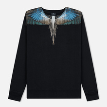 Мужская толстовка Marcelo Burlon Turquoise Wings Crewneck Black/Multicolor фото- 0