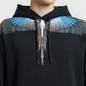Мужская толстовка Marcelo Burlon Turquoise Wings Hoodie Black/Multicolor фото - 2