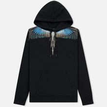 Мужская толстовка Marcelo Burlon Turquoise Wings Hoodie Black/Multicolor фото- 0