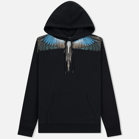 Мужская толстовка Marcelo Burlon Turquoise Wings Hoodie Black/Multicolor