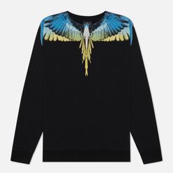 Мужская толстовка Marcelo Burlon Wings Regular Crewneck Black/Lime