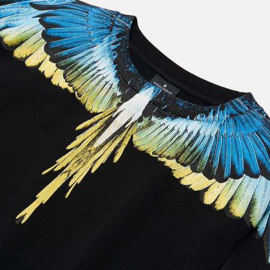 Мужская толстовка Marcelo Burlon Wings Regular Crewneck Black/Lime