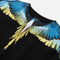 Мужская толстовка Marcelo Burlon Wings Regular Crewneck Black/Lime фото - 1