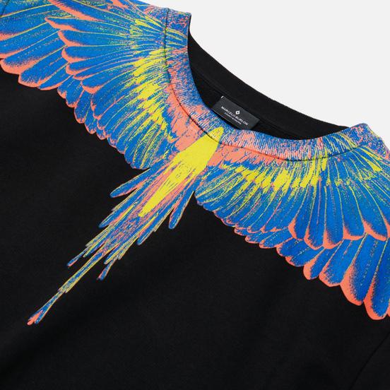Мужская толстовка Marcelo Burlon Wings Regular Crewneck Black/Multicolor