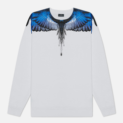 Мужская толстовка Marcelo Burlon Wings Regular Crewneck White/Blue