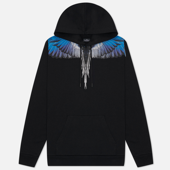 Мужская толстовка Marcelo Burlon Wings Regular Hoodie Black/Blue