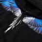 Мужская толстовка Marcelo Burlon Wings Regular Hoodie Black/Blue фото - 1