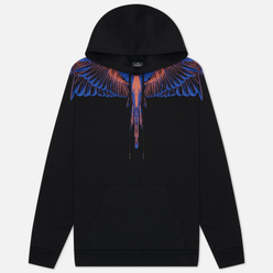 Мужская толстовка Marcelo Burlon Wings Regular Hoodie Black/Faded Orange
