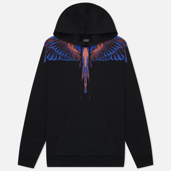 Мужская толстовка Marcelo Burlon Wings Regular Hoodie Black/Faded Orange