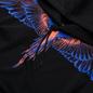 Мужская толстовка Marcelo Burlon Wings Regular Hoodie Black/Faded Orange фото - 1