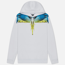 Мужская толстовка Marcelo Burlon Wings Regular Hoodie White/Lime