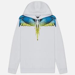 Мужская толстовка Marcelo Burlon Wings Regular Hoodie White/Lime