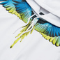 Мужская толстовка Marcelo Burlon Wings Regular Hoodie White/Lime фото - 1