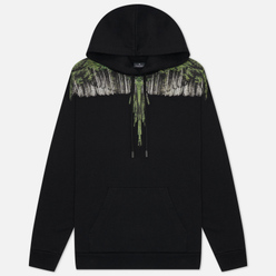Мужская толстовка Marcelo Burlon Wood Wings Hoodie Black/Green