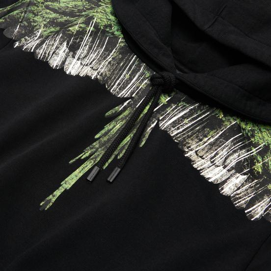 Мужская толстовка Marcelo Burlon Wood Wings Hoodie Black/Green