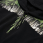 Мужская толстовка Marcelo Burlon Wood Wings Hoodie Black/Green фото - 1