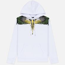 Мужская толстовка Marcelo Burlon Yellow Wings Hoodie White/Multicolor фото- 0
