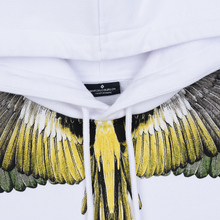 Мужская толстовка Marcelo Burlon Yellow Wings Hoodie White/Multicolor фото- 1