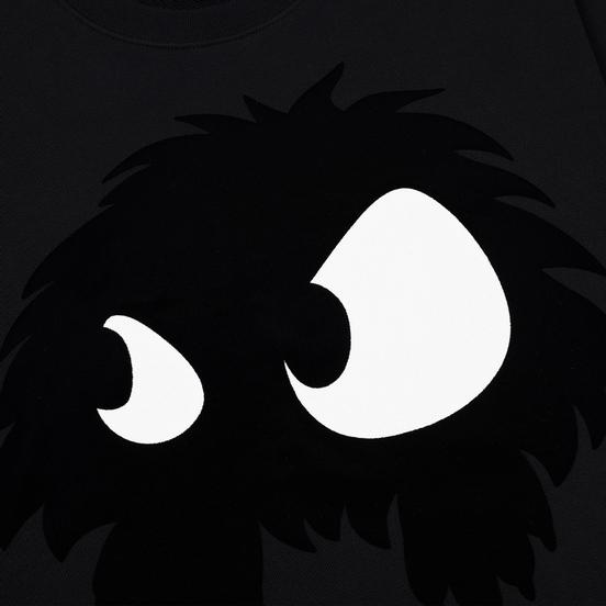 Мужская толстовка McQ Alexander McQueen Big Crew Neck Chester Monster Darkest Black