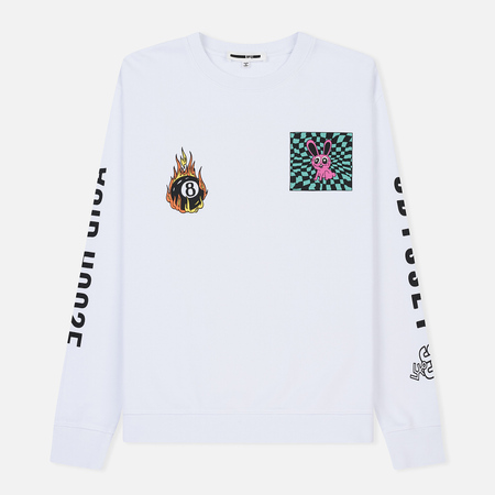 Мужская толстовка McQ Alexander McQueen Big Crew Neck Tripping Bunny Optic White