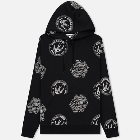 Мужская толстовка McQ Alexander McQueen Big Hoodie 01 Swallow Cube Rep Darkest Black