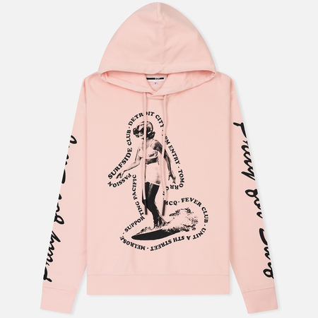 Мужская толстовка McQ Alexander McQueen Big Hoodie Surfer Girl Soft Pink