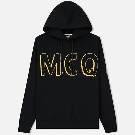 Мужская толстовка McQ Alexander McQueen Clean Hoodie 01 MCQ Font Darkest Black