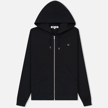 Мужская толстовка McQ Alexander McQueen Clean Zip Hoodie SG Swallow Badge Black/Black