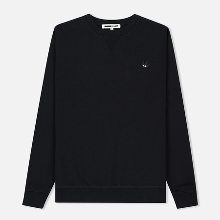 Мужская толстовка McQ Alexander McQueen Coverlock Crew SG Swallow Badge Black/Black